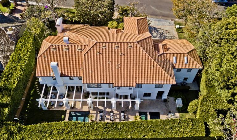 550 Spoleto, Palisades aerial looking at roof